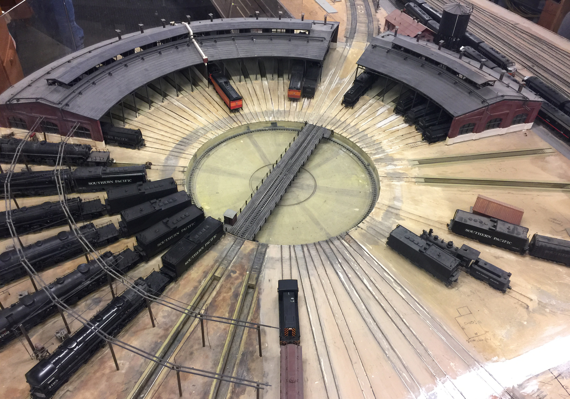 The roundhouse at the La Mesa Model Railroad Club, San Diego, California, USA.