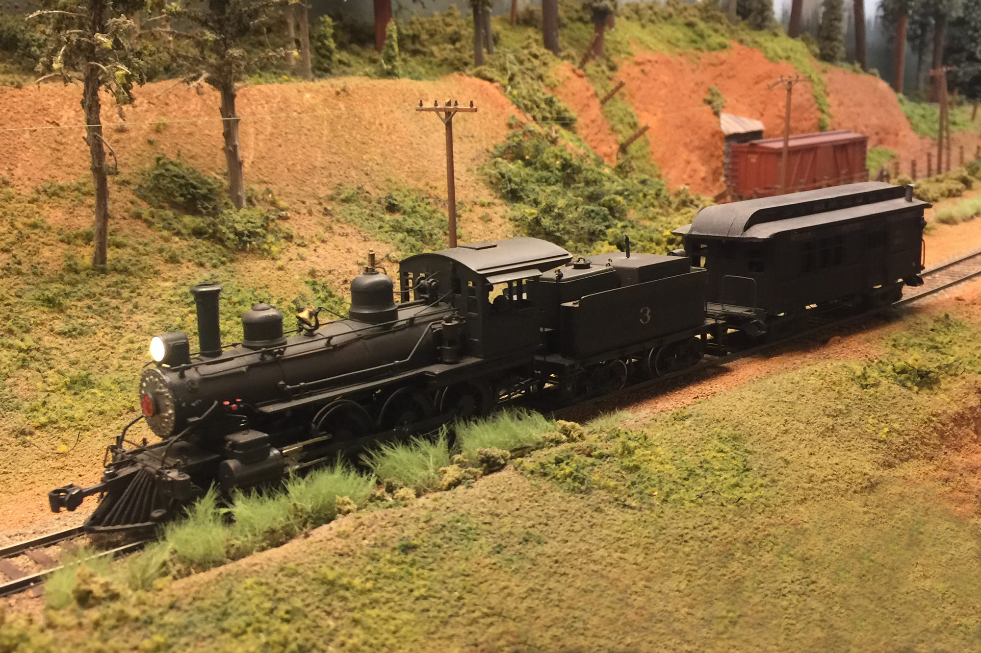 HO scale steam locomotive with DCC and Sound.
