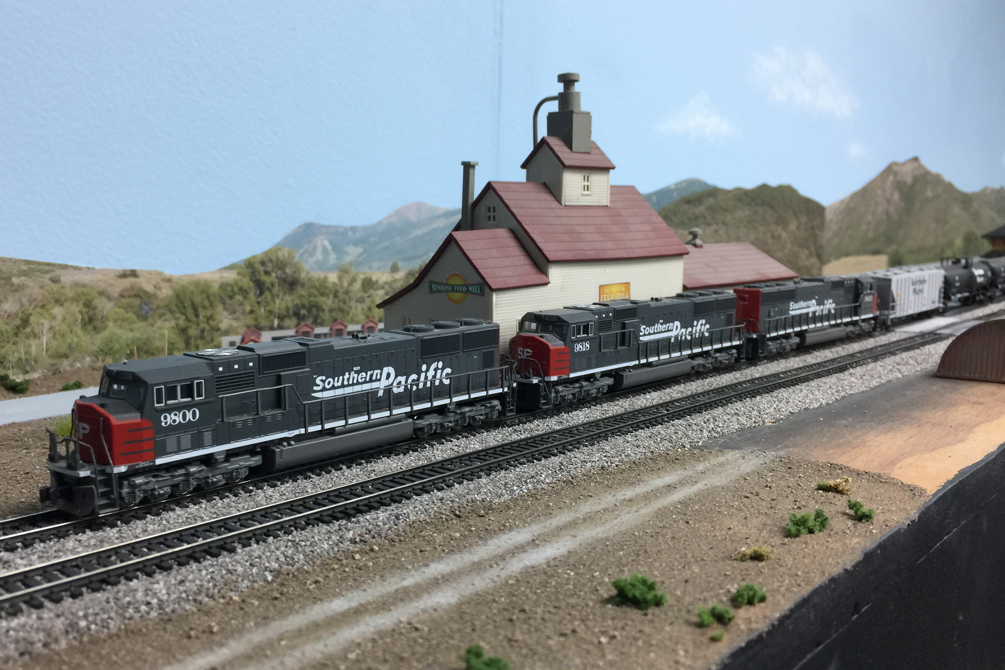 N Scale freight train and layout by Don Fowler, Master Model Railroader®, San Diego Division member.